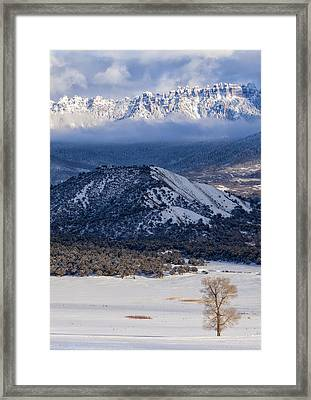 Turret Ridge In Winter Framed Print