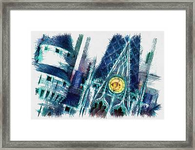 Turrets And Spires Pencil Framed Print