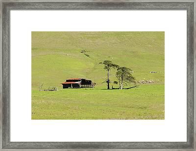 Framed Print featuring the photograph Turri Road - San Luis Obispo Ca by Art Block Collections