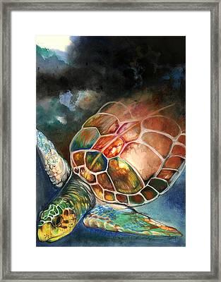 Turtle Framed Print by Anthony Burks Sr