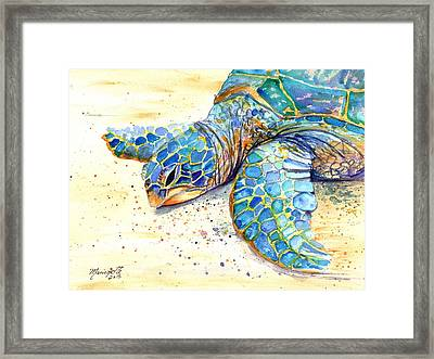 Turtle At Poipu Beach 4 Framed Print