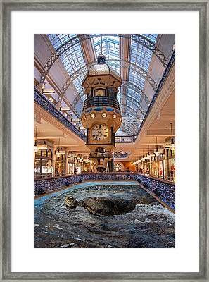 Framed Print featuring the photograph Turtle At The Mall by Harry Spitz