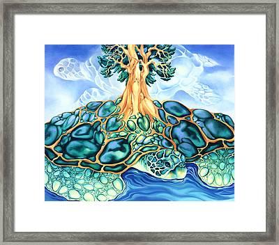 Turtle Island Framed Print by Marcia Snedecor