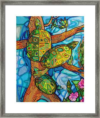Turtle-lini Framed Print
