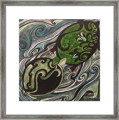 Turtle Love Framed Print