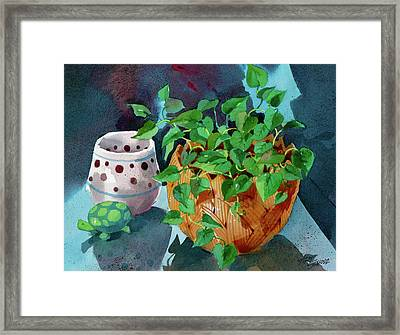 Turtle 'n Teracotta Framed Print by Art Scholz