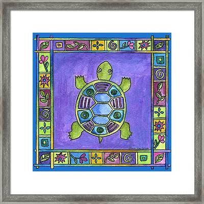Turtle Framed Print by Pamela  Corwin