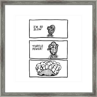 Turtle Power Comic Framed Print
