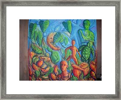 Turtle Walk Moon Framed Print by William Fien