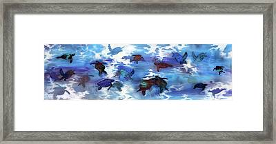Turtles In Heaven Framed Print