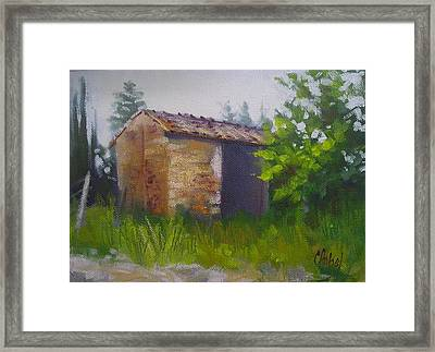 Tuscan Abandoned Farm Shed Framed Print