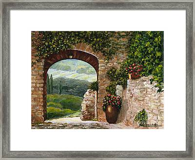 Tuscan Arch Framed Print