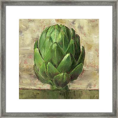 Tuscan Artichoke Framed Print by Pam Talley