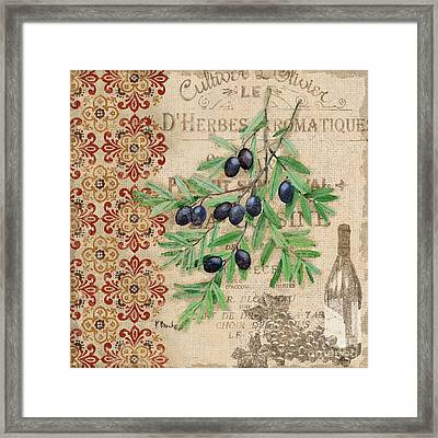 Tuscan Black Olives Framed Print by Paul Brent