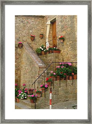 Tuscan Cottage Framed Print by Donna Corless