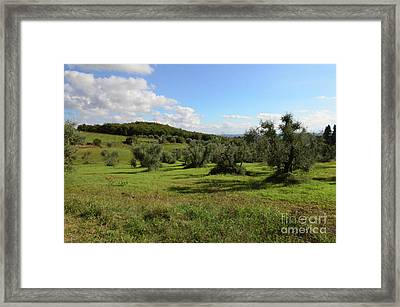 Tuscan Countryside In Italy Framed Print by DejaVu Designs
