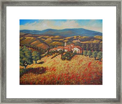 Tuscan Countryside Framed Print by Santo De Vita