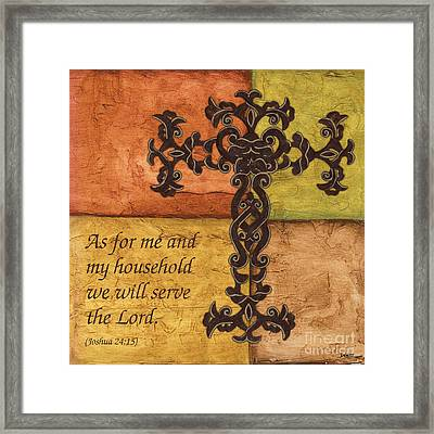Tuscan Cross Framed Print