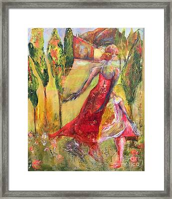 Tuscan Daughter Framed Print by Gail Butters Cohen