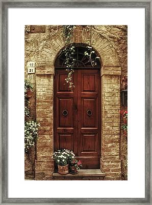 Tuscan Door Framed Print by Andrew Soundarajan