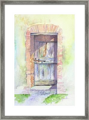 Tuscan Doorway Framed Print