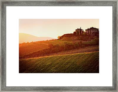 Tuscan Dream Framed Print by John and Tina Reid