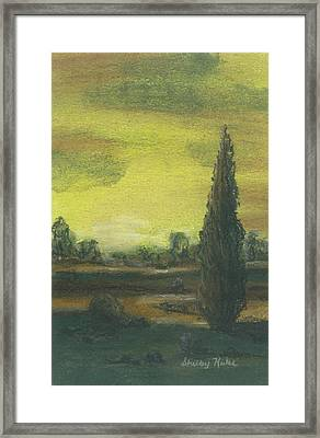 Tuscan Dusk 1 Framed Print by Shelby Kube