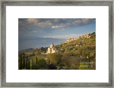 Tuscan Evening Over Montepulciano Framed Print by Brian Jannsen