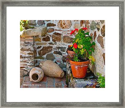 Tuscan Farm Framed Print