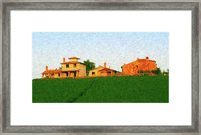 Tuscan Farmhouse Framed Print
