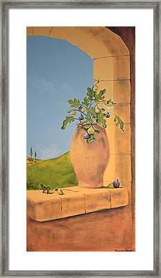 Tuscan Figs Framed Print by Yvonne Ayoub