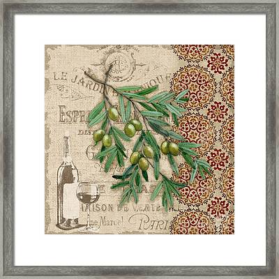 Tuscan Green Olives Framed Print by Paul Brent