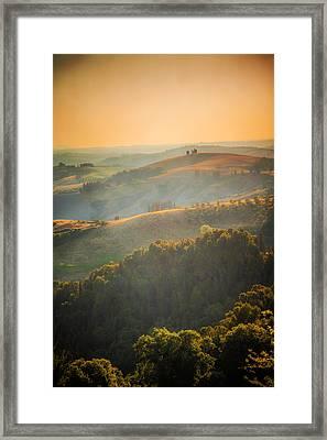Tuscan Hills Framed Print by Elena E Giorgi