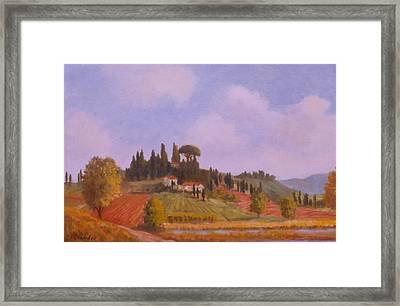 Tuscan Hillside Framed Print by David Olander