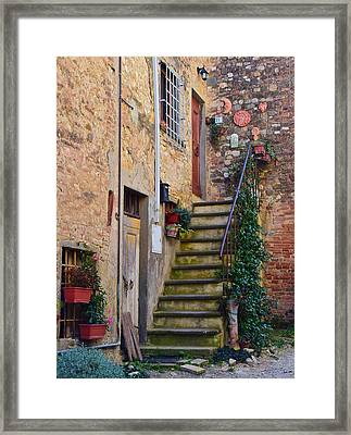 Tuscan Home Framed Print by Frozen in Time Fine Art Photography