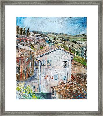 Tuscan House Framed Print by Joan De Bot