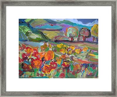 Tuscan Landscape Framed Print by Marlene Robbins