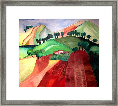 Tuscan Landscape Framed Print by Patricia Arroyo
