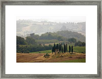 Framed Print featuring the photograph Tuscan Landscape by Stefan Nielsen