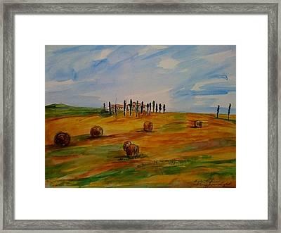 Tuscan Light  Framed Print by Angela Puglisi