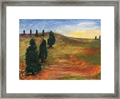 Framed Print featuring the pastel Tuscan Lights by Norma Duch