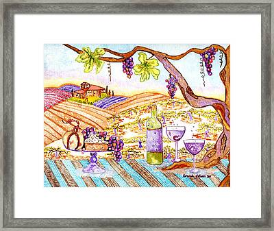 Tuscan Living In Style Framed Print by Connie Valasco