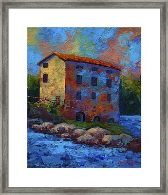 Tuscan Mill Framed Print by Marion Rose