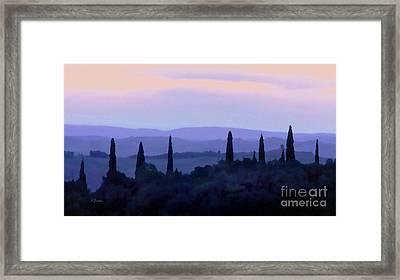 Tuscan Morn Framed Print by Linda  Parker