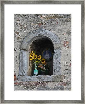 Tuscan Niche Framed Print