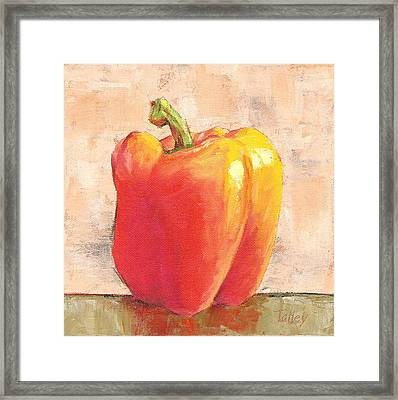 Tuscan Orange Pepper Framed Print