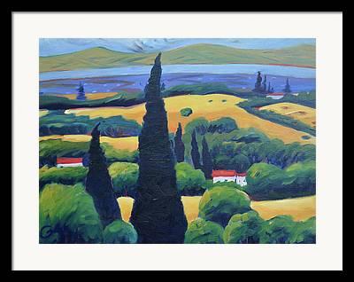 Pine Paintings Framed Prints