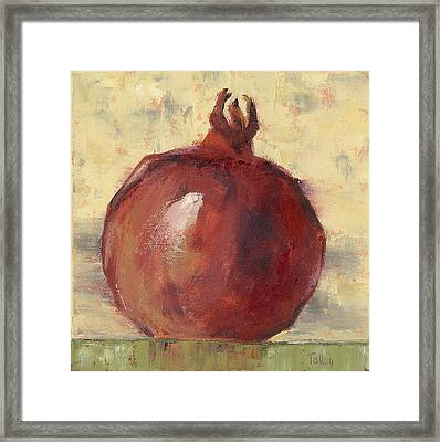 Tuscan Pomegranate Framed Print