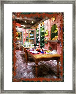 Tuscan Pottery Framed Print by Donna Blackhall