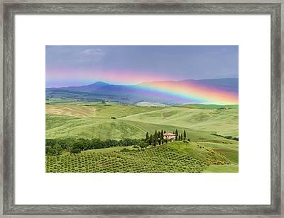 Tuscan Rainbow Framed Print by Michael Blanchette